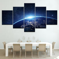 【中】キャンバスアート アートパネル 絵 絵画 パネルアート インテリア 壁掛け 宇宙 地球 星 空 銀河