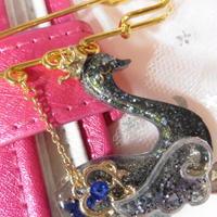 Galaxy Glitter Swan sapphireBlue