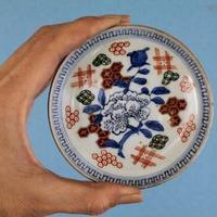 品番 t-0230 古伊万里 色絵小皿