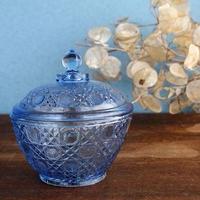 品番 g-0755 キャンディポット Blue ガラス