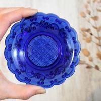 品番 g-0636 プレス小皿 濃Blue
