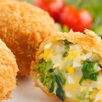 菜の花と奥久慈産卵コロッケ(5個入)