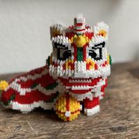 【ナノブロック】中国獅子舞