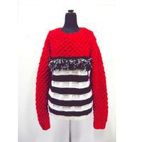 fringe border knit < Red_Ladies>