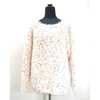【Pre-order】Pom Poms fur knit < WHT×REDdots>