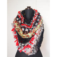 Textile Mix Snood < Red >