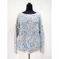 Pom Pons fur knit < L.BLUE×BLUEdots>