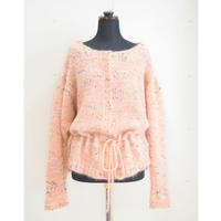Candy pop cardigan < Orange / Black >