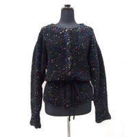 Candy pop cardigan < Black >