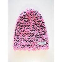 Pink knit cap