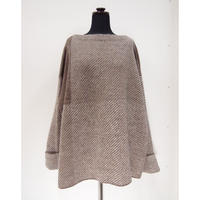 Color Combination knit _ Unisex L < Mocha >