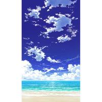 【イラスト背景】【合作】青空_縦PAN用01_海07