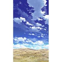 【イラスト背景】【合作】青空_縦PAN用03_12
