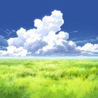 【イラスト背景】【合作】時差入道雲04_14