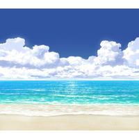 【イラスト背景】【合作】時差入道雲05_海07