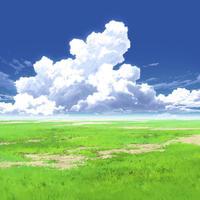 【イラスト背景】【合作】時差入道雲04_05