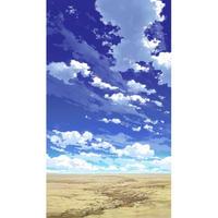【イラスト背景】【合作】青空_縦PAN用03_09
