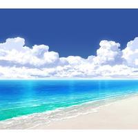 【イラスト背景】【合作】時差入道雲05_海09