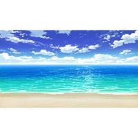 【イラスト背景】【合作】時差雲01_海06