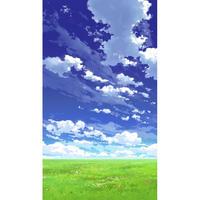 【イラスト背景】【合作】青空_縦PAN用03_04
