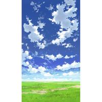 【イラスト背景】【合作】青空_縦PAN用04_05