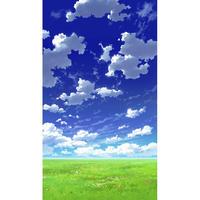 【イラスト背景】【合作】青空_縦PAN用02_04