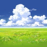 【イラスト背景】【合作】時差入道雲02_07