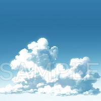 素材_入道雲背景02