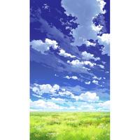 【イラスト背景】【合作】青空_縦PAN用03_13