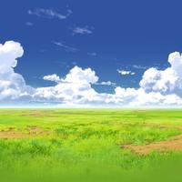 【イラスト背景】【合作】時差入道雲03_08