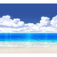 【イラスト背景】【合作】時差入道雲05_海08