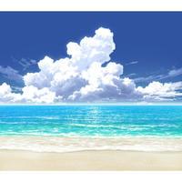 【イラスト背景】【合作】時差入道雲04_海07