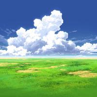【イラスト背景】【合作】時差入道雲04_02