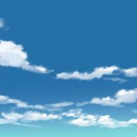 【イラスト背景×4枚セット】【無料】青空背景011_015
