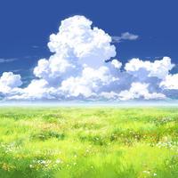 【イラスト背景】【合作】時差入道雲02_13