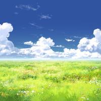 【イラスト背景】【合作】時差入道雲03_13