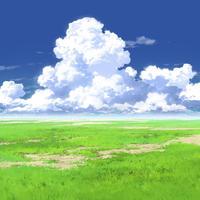 【イラスト背景】【合作】時差入道雲02_05
