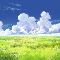 【イラスト背景】【合作】時差入道雲01_13