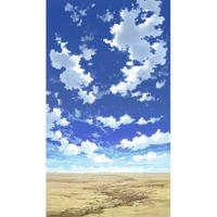【イラスト背景】【合作】青空_縦PAN用04_09