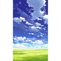 【イラスト背景】【合作】青空_縦PAN用03_10