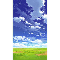 【イラスト背景】【合作】青空_縦PAN用03_08