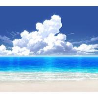 【イラスト背景】【合作】時差入道雲04_海08