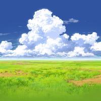 【イラスト背景】【合作】時差入道雲02_08
