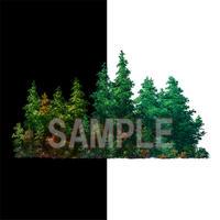 素材_遠景の木々03