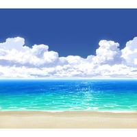 【イラスト背景】【合作】時差入道雲05_海06