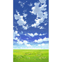 【イラスト背景】【合作】青空_縦PAN用04_07