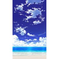 【イラスト背景】【合作】青空_縦PAN用01_海08