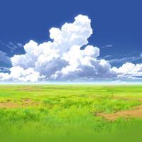 【イラスト背景】【合作】時差入道雲04_08