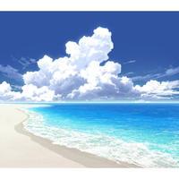 【イラスト背景】【合作】時差入道雲04_海10