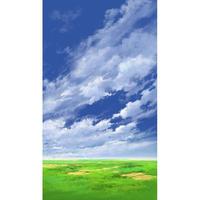 【イラスト背景】【合作】青空_縦PAN用05_02